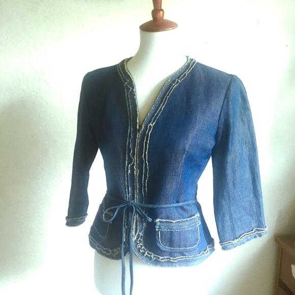 Lida Baday Jackets & Blazers - Lida Baday Belted Jean Jacket 6